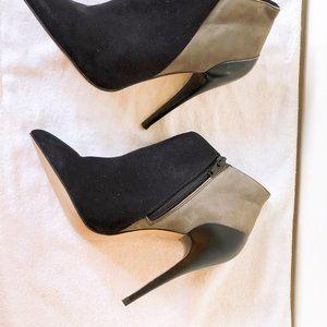 ALDO Lady's Navy Grey Suede Ankle Heels